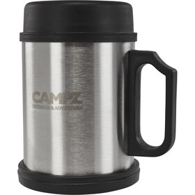 CAMPZ Thermo Mok Staal 400ml, black/silver